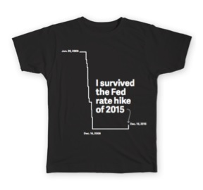 The Top of Matt's Wish List: The Fed Rate Hike was quickly memorialized in these T-shirts by Quartz.